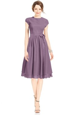 ColsBM Jane Valerian Mature Fit-n-Flare High Neck Zip up Chiffon Bridesmaid Dresses
