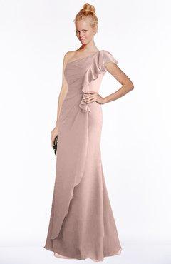Dusty Rose One Shoulder Dresses
