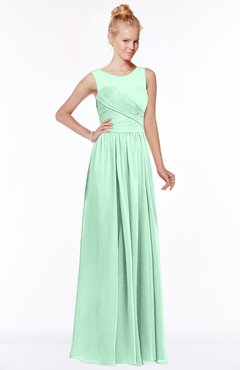 ColsBM Kyra Honeydew Glamorous A-line Jewel Sleeveless Chiffon30 Ruching Bridesmaid Dresses