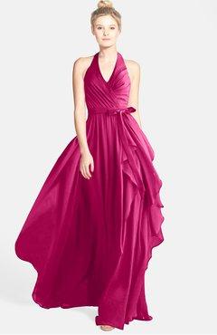 ColsBM Anya Cabaret Glamorous A-line Sleeveless Zip up Chiffon Ribbon Bridesmaid Dresses