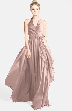 e29d4d56849 ColsBM Anya Dusty Rose Glamorous A-line Sleeveless Zip up Chiffon Ribbon Bridesmaid  Dresses