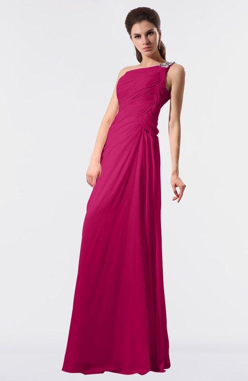 ColsBM Moriah Beetroot Purple Simple Sheath Sleeveless Chiffon Floor Length Sequin Bridesmaid Dresses