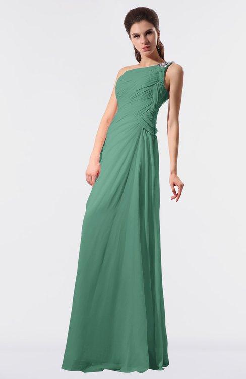 ColsBM Moriah Beryl Green Simple Sheath Sleeveless Chiffon Floor Length Sequin Bridesmaid Dresses