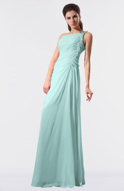 ColsBM Moriah Blue Glass Simple Sheath Sleeveless Chiffon Floor Length Sequin Bridesmaid Dresses