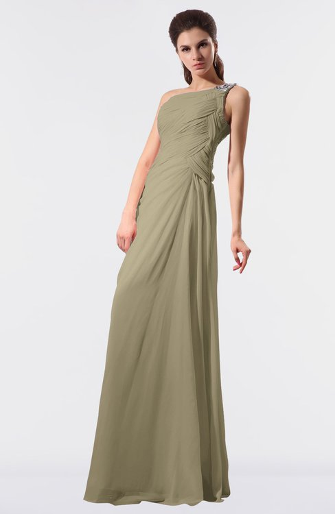 ColsBM Moriah Candied Ginger Simple Sheath Sleeveless Chiffon Floor Length Sequin Bridesmaid Dresses