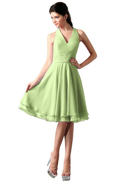 ColsBM Holly Butterfly Simple A-line Sleeveless Zipper Chiffon Graduation Dresses