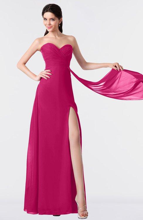 ColsBM Vivian Beetroot Purple Modern A-line Sleeveless Backless Split-Front Bridesmaid Dresses