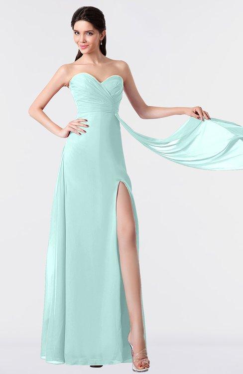 ColsBM Vivian Blue Glass Modern A-line Sleeveless Backless Split-Front Bridesmaid Dresses