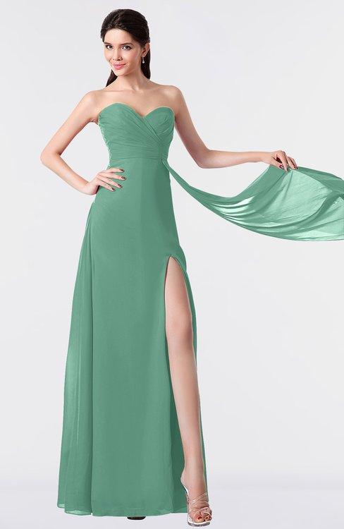ColsBM Vivian Bristol Blue Modern A-line Sleeveless Backless Split-Front Bridesmaid Dresses