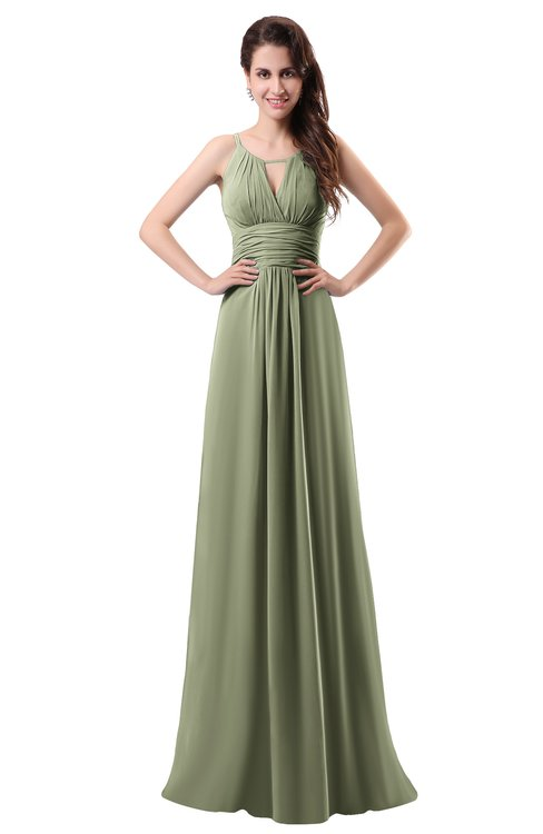 ColsBM Daisy Bog Simple Column Scoop Chiffon Ruching Bridesmaid Dresses