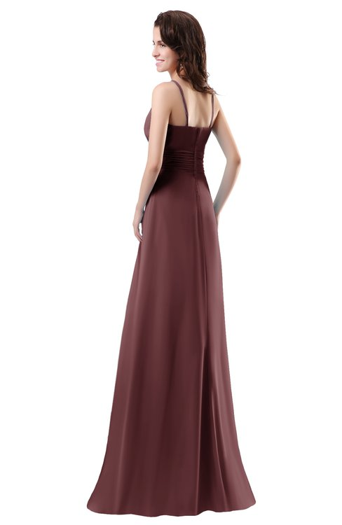 9a6631a24f6 ... ColsBM Daisy Burgundy Simple Column Scoop Chiffon Ruching Bridesmaid  Dresses