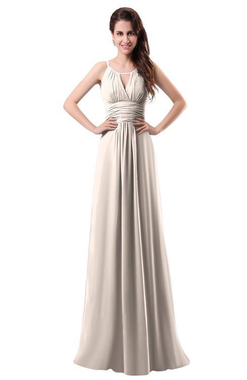 ColsBM Daisy Cream Pink Simple Column Scoop Chiffon Ruching Bridesmaid Dresses