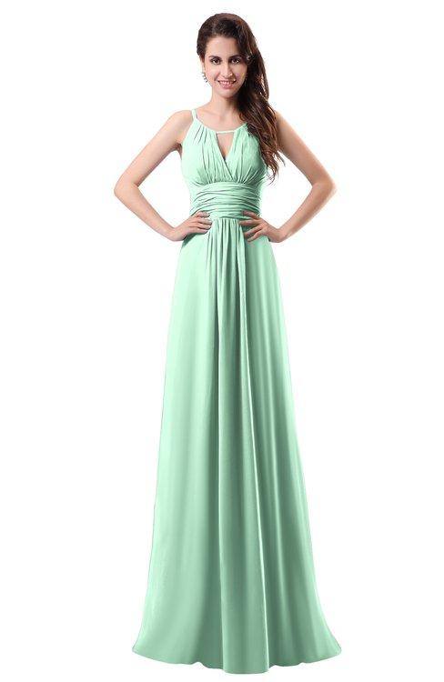 ColsBM Daisy Honeydew Simple Column Scoop Chiffon Ruching Bridesmaid Dresses