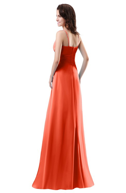 b14c00305d6 ... ColsBM Daisy Persimmon Simple Column Scoop Chiffon Ruching Bridesmaid  Dresses