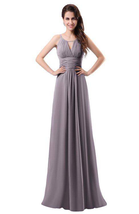 ColsBM Daisy Sea Fog Simple Column Scoop Chiffon Ruching Bridesmaid Dresses