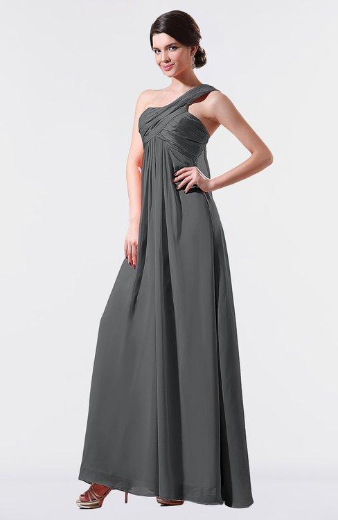 ColsBM Nayeli Grey Plain Empire Sleeveless Zip up Floor Length Pleated Bridesmaid Dresses