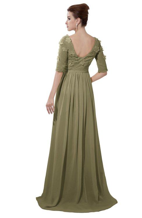 ColsBM Emily Boa Casual A-line Sabrina Elbow Length Sleeve Backless Beaded Bridesmaid Dresses