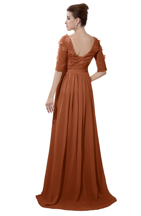 ColsBM Emily Bombay Brown Casual A-line Sabrina Elbow Length Sleeve Backless Beaded Bridesmaid Dresses