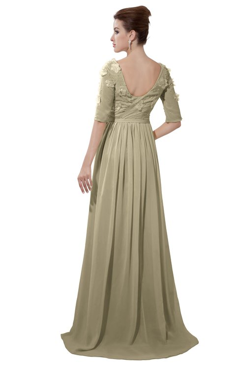 ColsBM Emily Candied Ginger Casual A-line Sabrina Elbow Length Sleeve Backless Beaded Bridesmaid Dresses