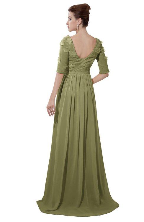 ColsBM Emily Cedar Casual A-line Sabrina Elbow Length Sleeve Backless Beaded Bridesmaid Dresses