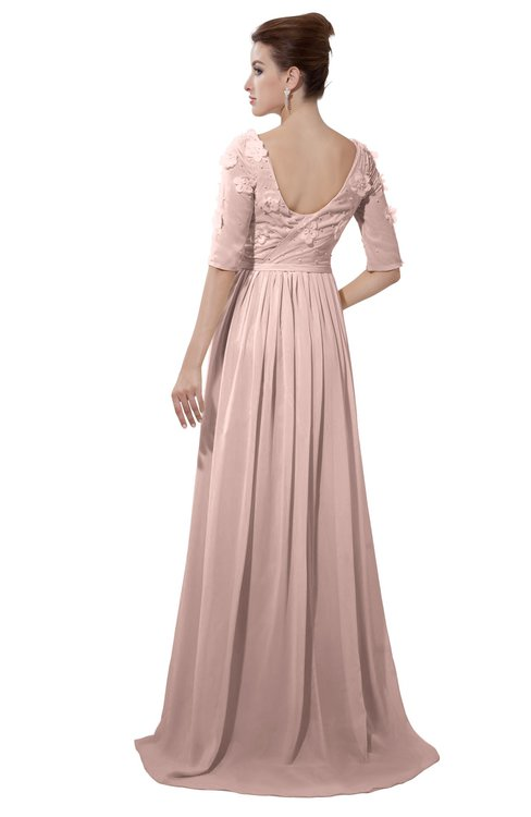 ColsBM Emily Dusty Rose Casual A-line Sabrina Elbow Length Sleeve Backless Beaded Bridesmaid Dresses