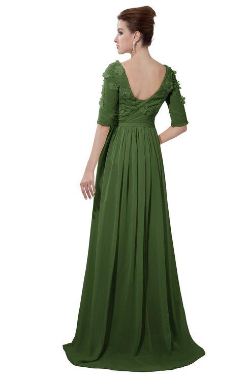 ColsBM Emily Garden Green Casual A-line Sabrina Elbow Length Sleeve Backless Beaded Bridesmaid Dresses