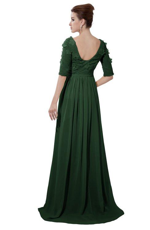 ColsBM Emily Hunter Green Casual A-line Sabrina Elbow Length Sleeve Backless Beaded Bridesmaid Dresses