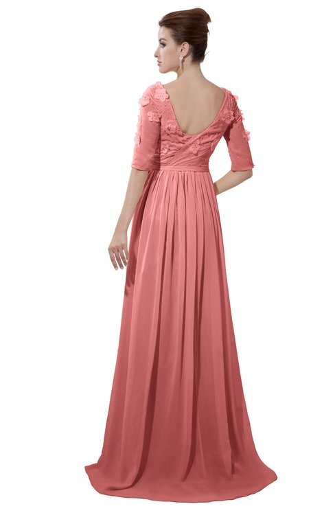 ColsBM Emily Lantana Casual A-line Sabrina Elbow Length Sleeve Backless Beaded Bridesmaid Dresses