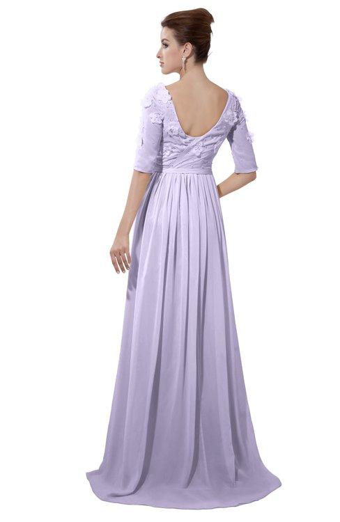 ColsBM Emily Light Purple Casual A-line Sabrina Elbow Length Sleeve Backless Beaded Bridesmaid Dresses