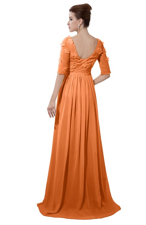 ColsBM Emily Mango Casual A-line Sabrina Elbow Length Sleeve Backless Beaded Bridesmaid Dresses