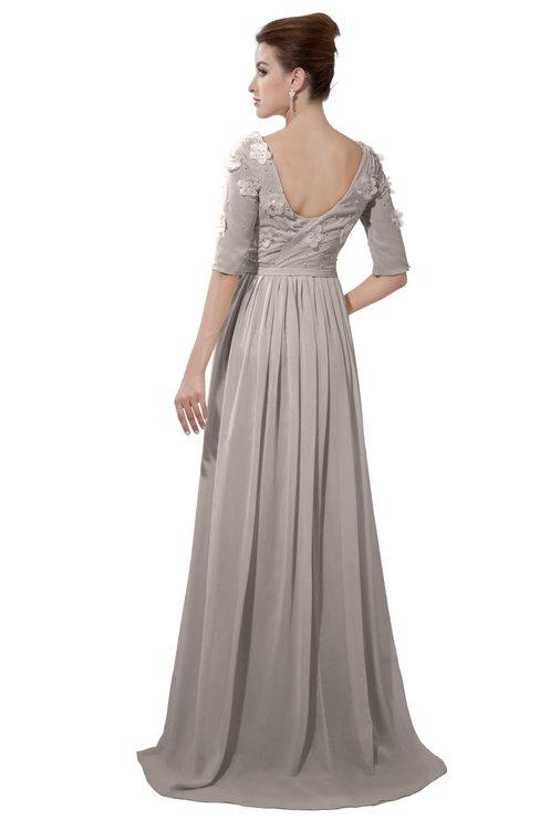 ColsBM Emily Mushroom Casual A-line Sabrina Elbow Length Sleeve Backless Beaded Bridesmaid Dresses
