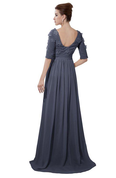 ColsBM Emily Nightshadow Blue Casual A-line Sabrina Elbow Length Sleeve Backless Beaded Bridesmaid Dresses