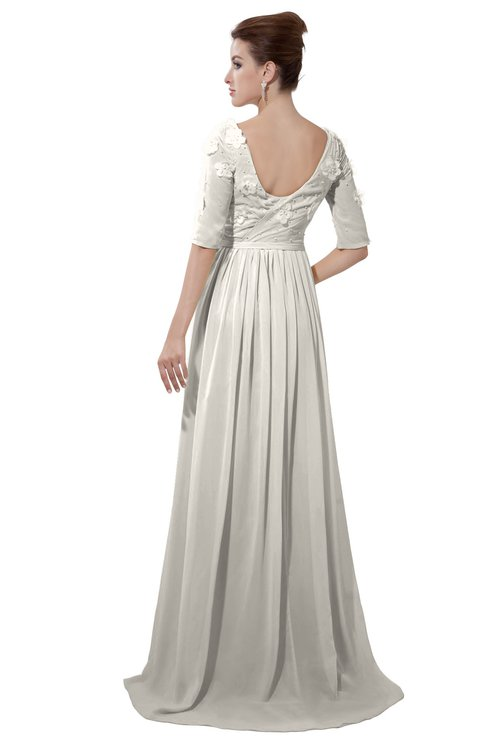 ColsBM Emily Off White Casual A-line Sabrina Elbow Length Sleeve Backless Beaded Bridesmaid Dresses