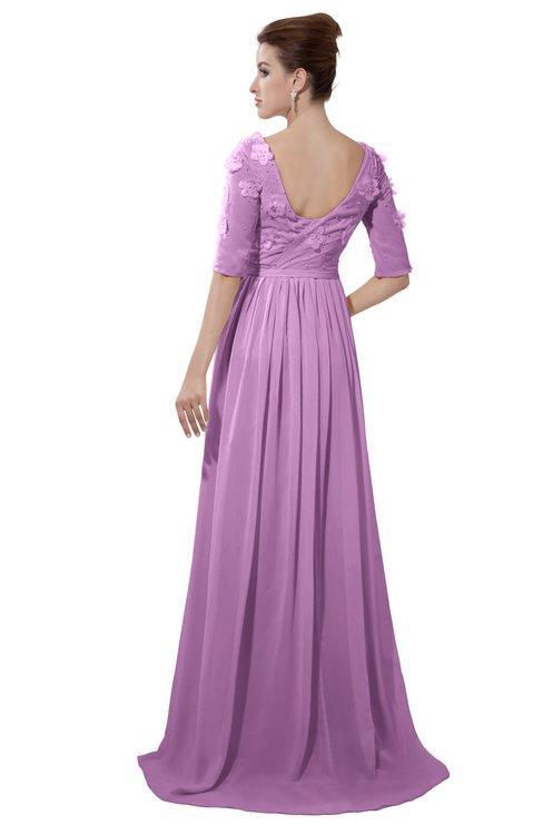 ColsBM Emily Orchid Casual A-line Sabrina Elbow Length Sleeve Backless Beaded Bridesmaid Dresses
