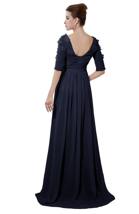 ColsBM Emily Peacoat Casual A-line Sabrina Elbow Length Sleeve Backless Beaded Bridesmaid Dresses