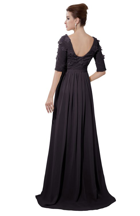 ColsBM Emily Perfect Plum Casual A-line Sabrina Elbow Length Sleeve Backless Beaded Bridesmaid Dresses