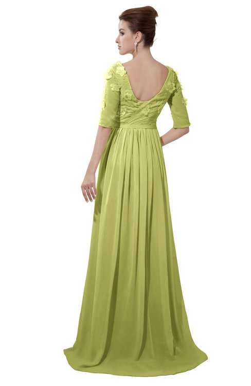 ColsBM Emily Pistachio Casual A-line Sabrina Elbow Length Sleeve Backless Beaded Bridesmaid Dresses