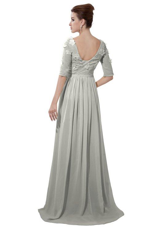 ColsBM Emily Platinum Casual A-line Sabrina Elbow Length Sleeve Backless Beaded Bridesmaid Dresses