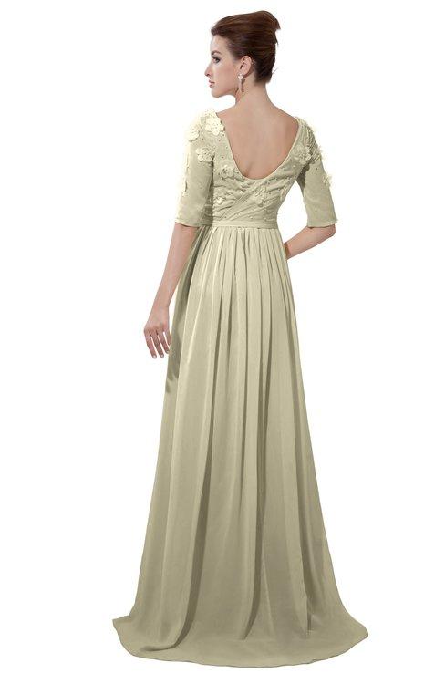 ColsBM Emily Putty Casual A-line Sabrina Elbow Length Sleeve Backless Beaded Bridesmaid Dresses