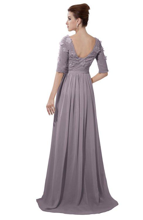ColsBM Emily Sea Fog Casual A-line Sabrina Elbow Length Sleeve Backless Beaded Bridesmaid Dresses