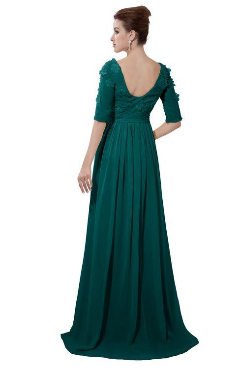 ColsBM Emily Shaded Spruce Casual A-line Sabrina Elbow Length Sleeve Backless Beaded Bridesmaid Dresses