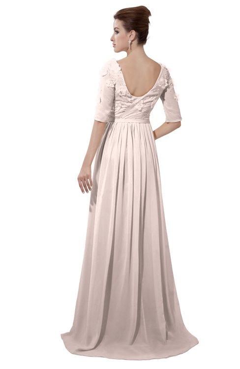 ColsBM Emily Silver Peony Casual A-line Sabrina Elbow Length Sleeve Backless Beaded Bridesmaid Dresses