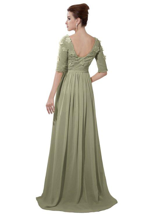 ColsBM Emily Sponge Casual A-line Sabrina Elbow Length Sleeve Backless Beaded Bridesmaid Dresses