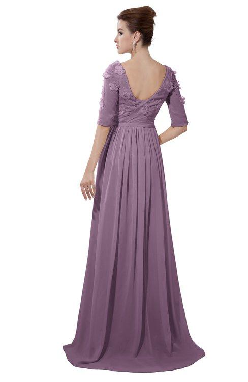 ColsBM Emily Valerian Casual A-line Sabrina Elbow Length Sleeve Backless Beaded Bridesmaid Dresses