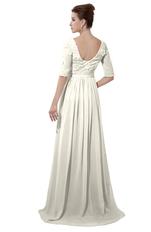 ColsBM Emily Whisper White Casual A-line Sabrina Elbow Length Sleeve Backless Beaded Bridesmaid Dresses