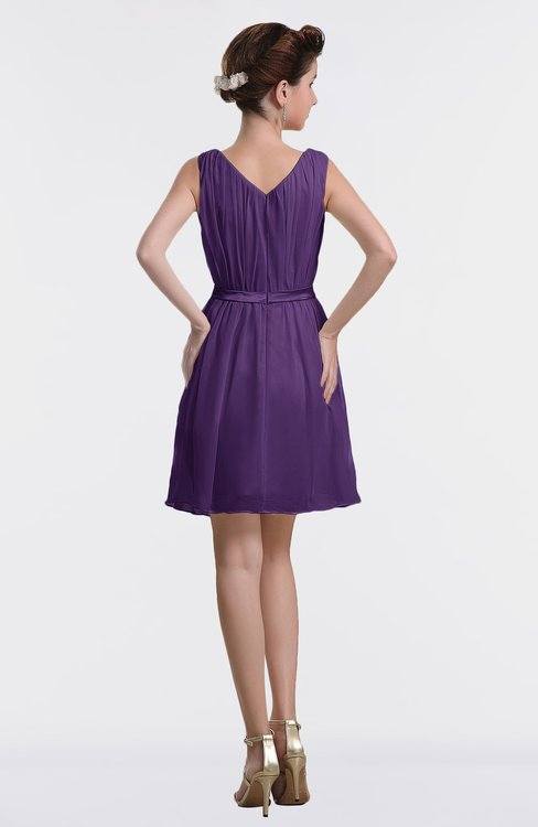 b1d2e02bc4a ... ColsBM Farrah Dark Purple Hawaiian Bateau Sleeveless Zipper Ribbon  Cocktail Dresses