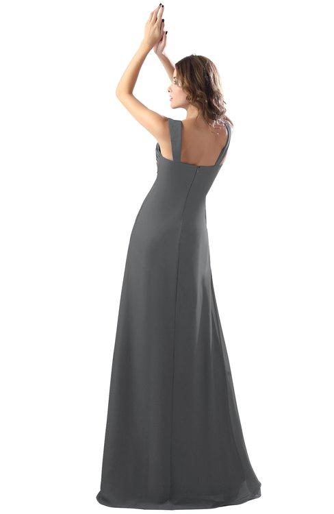 b970dadd270ef ... ColsBM Diana Grey Modest Empire Thick Straps Zipper Floor Length  Ruching Prom Dresses