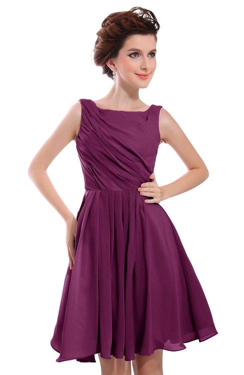 48f253e2fb1 ColsBM Courtney Raspberry Modest A-line Bateau Sleeveless Zip up Ruching  Homecoming Dresses