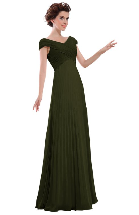 ColsBM Elise Beech Casual V-neck Zipper Chiffon Pleated Bridesmaid Dresses