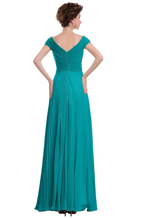 6d700e6ebd0 ... ColsBM Elise Teal Casual V-neck Zipper Chiffon Pleated Bridesmaid  Dresses